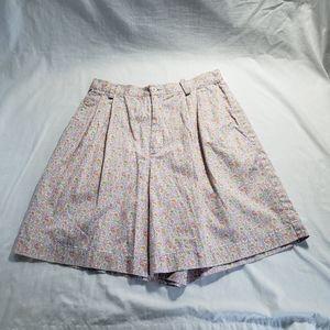 Liz Claiborne Sport 8 Petite Cotton Floral Shorts